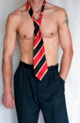 Tie on Naked Chest 1