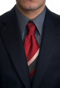 This tie has the dimple...